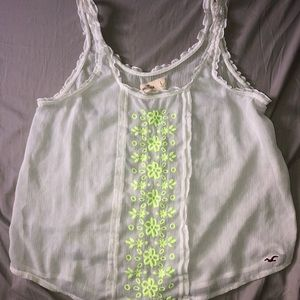 Embroidered Hollister Tank